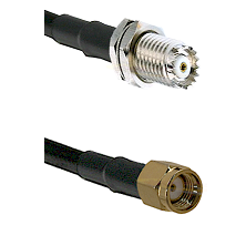 Mini-UHF Female Connector On LMR-240UF UltraFlex To SMA Reverse Polarity Male Connector Coaxial Cabl