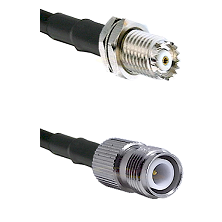 Mini-UHF Female Connector On LMR-240UF UltraFlex To TNC Reverse Polarity Female Connector Coaxial Ca
