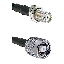 Mini-UHF Female Connector On LMR-240UF UltraFlex To TNC Reverse Polarity Male Connector Coaxial Cabl