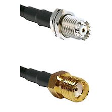 Mini-UHF Female Connector On LMR-240UF UltraFlex To SMA Reverse Thread Female Connector Coaxial Cabl