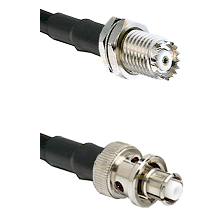 Mini-UHF Female Connector On LMR-240UF UltraFlex To SHV Plug Connector Cable Assembly
