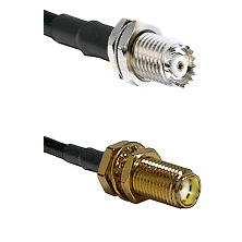 Mini-UHF Female Connector On LMR-240UF UltraFlex To SMA Female Bulkhead Connector Coaxial Cable Asse