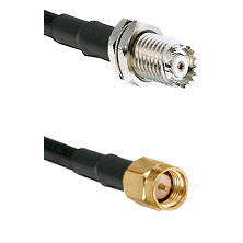 Mini-UHF Female Connector On LMR-240UF UltraFlex To SMA Male Connector Cable Assembly