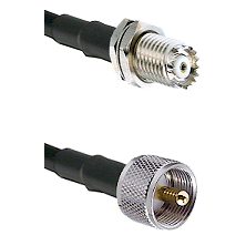Mini-UHF Female Connector On LMR-240UF UltraFlex To UHF Male Connector Cable Assembly