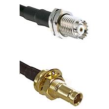 Mini-UHF Female Bulkhead on RG142 to 10/23 Female Bulkhead Cable Assembly