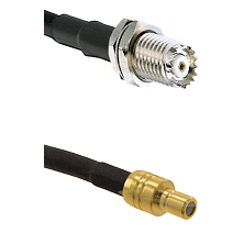 Mini-UHF Female on RG142 to SMB Male Cable Assembly
