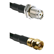 Mini-UHF Female Bulkhead Connector On RG316DS Double Shielded To SMC Male Connector Coaxial Cable A