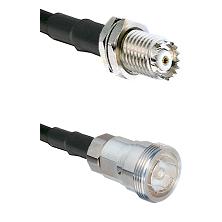 Mini-UHF Female Bulkhead on RG58C/U to 7/16 Din Female Cable Assembly