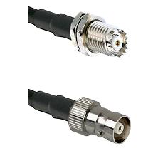 Mini-UHF Female Bulkhead on RG58C/U to C Female Cable Assembly