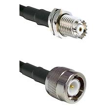 Mini-UHF Female Bulkhead on RG58C/U to C Male Cable Assembly