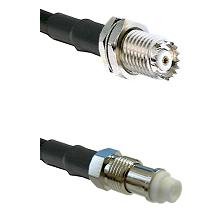 Mini-UHF Female Bulkhead on RG58C/U to FME Female Cable Assembly