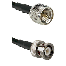 Mini-UHF Male on LMR100 to BNC Male Cable Assembly