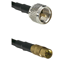 Mini-UHF Male on LMR100 to MMCX Female Cable Assembly