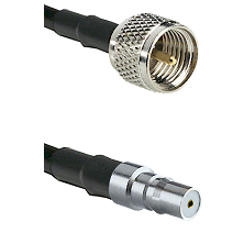 Mini-UHF Male on LMR100 to QMA Female Cable Assembly