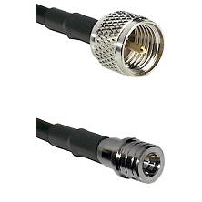 Mini-UHF Male on LMR100/U to QMA Male Cable Assembly