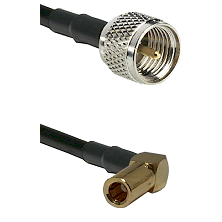 Mini-UHF Male on LMR100 to SLB Right Angle Female Cable Assembly