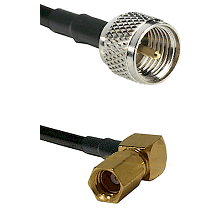 Mini-UHF Male on LMR100 to SSMC Right Angle Female Cable Assembly