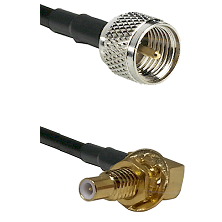Mini-UHF Male on LMR100 to SLB Male Bulkhead Cable Assembly