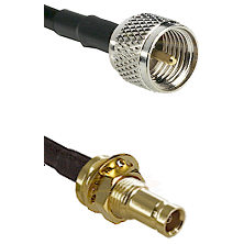 Mini-UHF Male on LMR200 UltraFlex to 10/23 Female Bulkhead Cable Assembly
