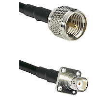 Mini-UHF Male on LMR200 UltraFlex to BNC 4 Hole Female Cable Assembly