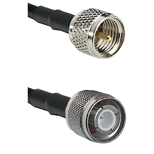 Mini-UHF Male Connector On LMR-240UF UltraFlex To HN Male Connector Cable Assembly