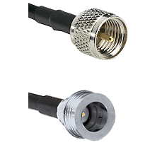 Mini-UHF Male Connector On LMR-240UF UltraFlex To QN Male Connector Cable Assembly