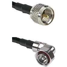 Mini-UHF Male on LMR240 Ultra Flex to 7/16 Din Right Angle Male Cable Assembly