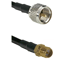 Mini-UHF Male on LMR240 Ultra Flex to SMA Reverse Polarity Female Cable Assembly