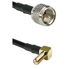 Mini-UHF Male on LMR240 Ultra Flex to SLB Right Angle Male Cable Assembly