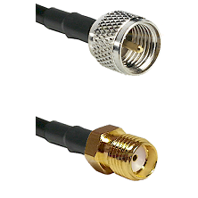 Mini-UHF Male Connector On LMR-240UF UltraFlex To SMA Reverse Thread Female Connector Coaxial Cable