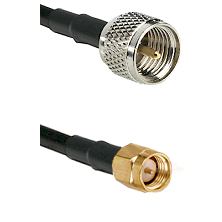 Mini-UHF Male on LMR240 Ultra Flex to SMA Reverse Thread Male Cable Assembly
