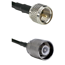Mini-UHF Male Connector On LMR-240UF UltraFlex To SC Male Connector Cable Assembly