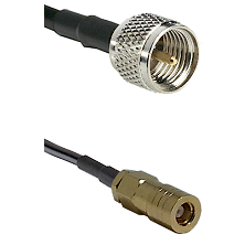 Mini-UHF Male on LMR240 Ultra Flex to SLB Female Cable Assembly