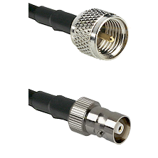 Mini-UHF Male on RG142 to C Female Cable Assembly