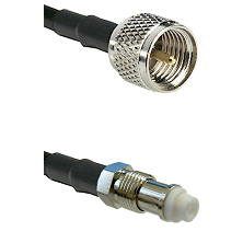 Mini-UHF Male on RG142 to FME Female Cable Assembly