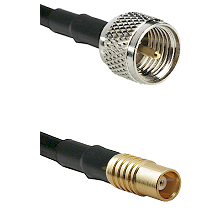 Mini-UHF Male on RG142 to MCX Female Cable Assembly