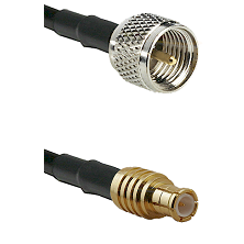 Mini-UHF Male on RG142 to MCX Male Cable Assembly