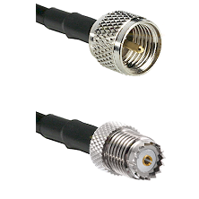Mini-UHF Male on RG142 to Mini-UHF Female Cable Assembly