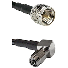 Mini-UHF Male on RG188 to SSMA Right Angle Male Cable Assembly