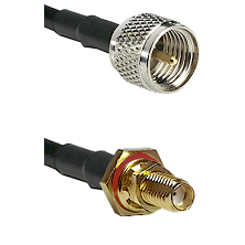 Mini-UHF Male on RG188 to SSMA Female Bulkhead Cable Assembly
