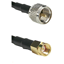 Mini-UHF Male on RG188 to SSMA Male Cable Assembly