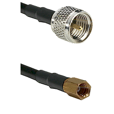Mini-UHF Male on RG223 to SSMC Female Cable Assembly