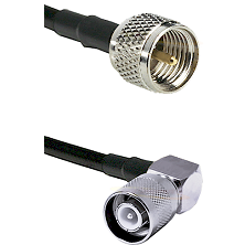 Mini-UHF Male on RG400 to SC Right Angle Male Cable Assembly