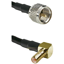 Mini-UHF Male on RG400 to SSMB Right Angle Male Cable Assembly