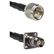 Mini-UHF Male on RG400 to TNC 4 Hole Female Cable Assembly