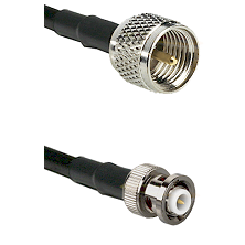 Mini-UHF Male on RG58C/U to MHV Male Cable Assembly