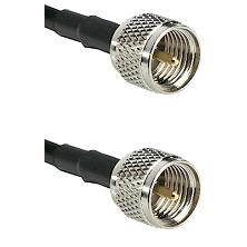 Mini-UHF Male on RG58C/U to Mini-UHF Male Cable Assembly