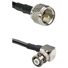 Mini-UHF Male on RG58C/U to MHV Right Angle Male Cable Assembly