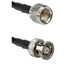 Mini-UHF Male on RG58C/U to BNC Reverse Polarity Male Cable Assembly