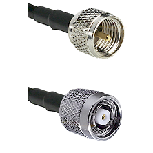 Mini-UHF Male on RG58C/U to TNC Reverse Polarity Male Cable Assembly